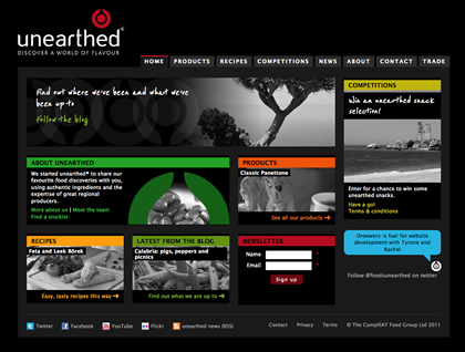 New unearthed website
